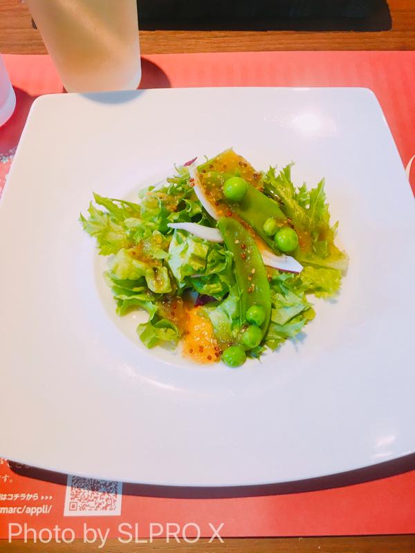 グリーンサラダ、豆のサラダ