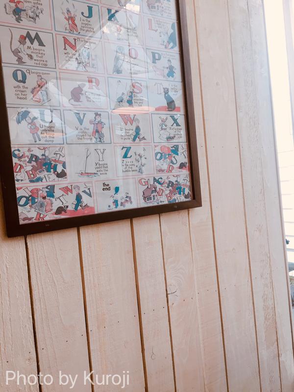 cafeblue店内の壁紙