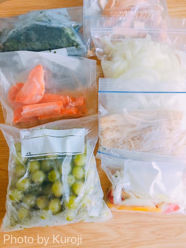 冷凍野菜と冷凍フルーツ