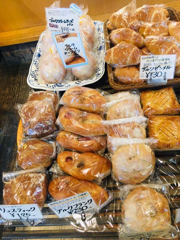 ブルククリームチーズパン、リュスティック、ブルクフランク
