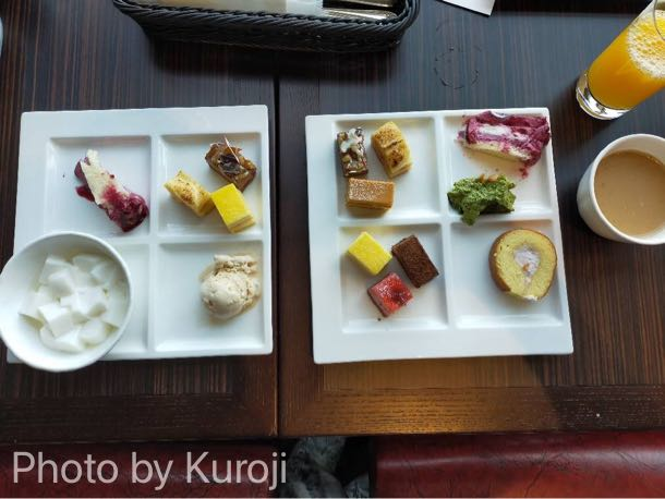 スイーツビュッフェ、杏仁豆腐、ケーキ、アイス