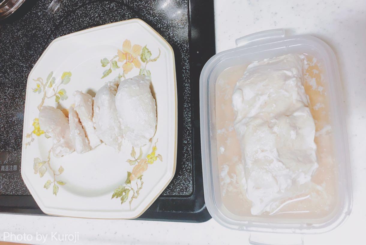 鶏胸肉、サラダチキン完成